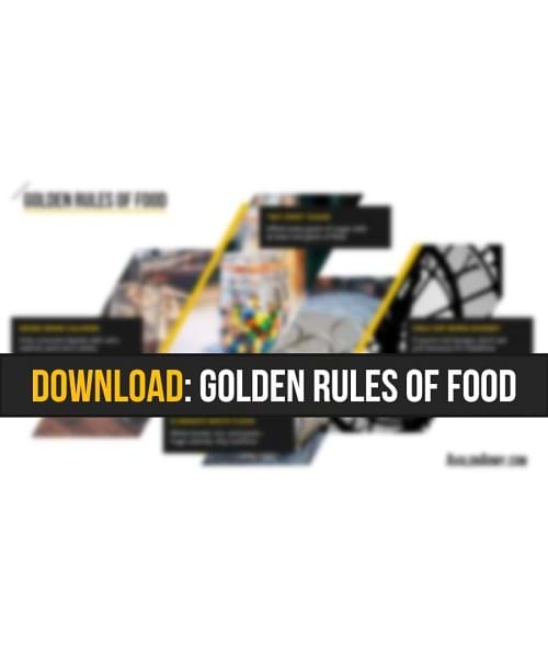 Golden Rules of Food cheat sheet by Avalon Army