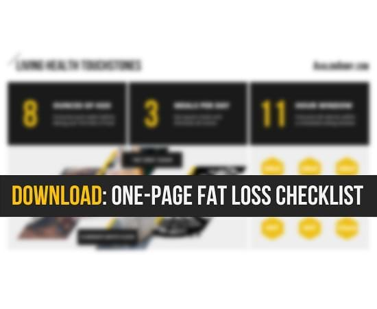 One-page fat loss checklist by Avalon Army